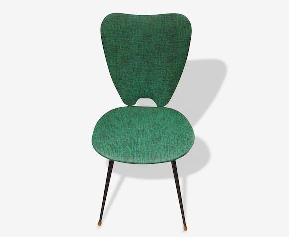 Chaise verte années 60