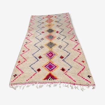 Tapis Berbere en laine et coton fait main - 275x170 cm