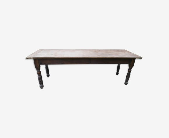 Old farm table in oak