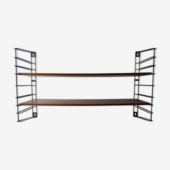 Tomado shelves in metal and the 1960s teak