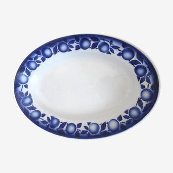 Earthenware of saint amand dish