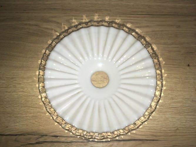 Opaline plissée en cristal pour suspension