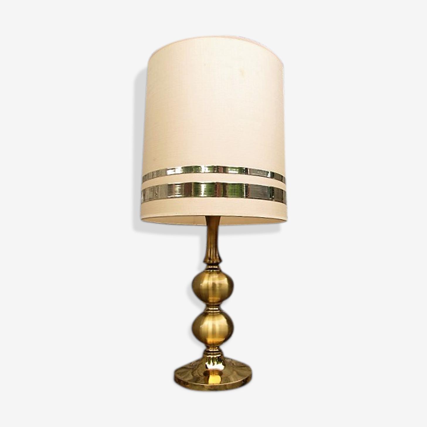 Lampe vintage en laiton doré Circa 1970.