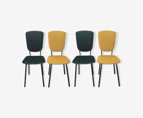 Série de 4 chaises années 60 retapissées