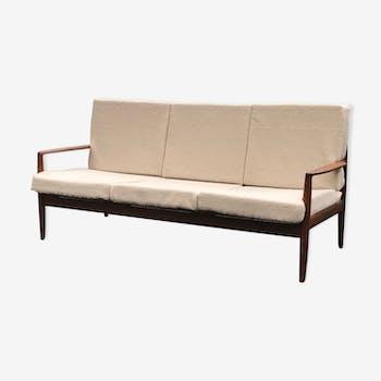 Canapé trois places scandinave en teck