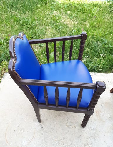Fauteuil bleu