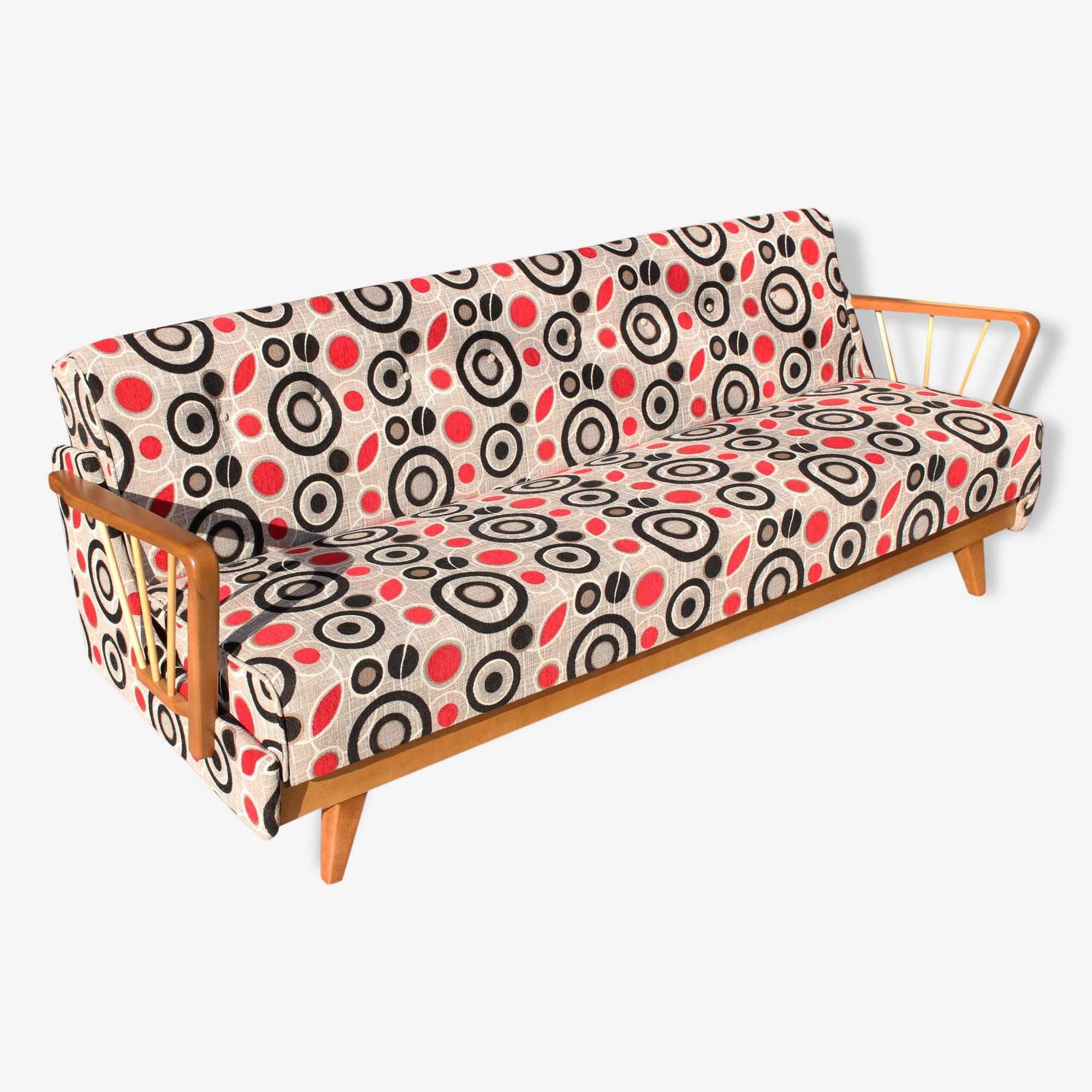 Mid Century German sofa bed années 50