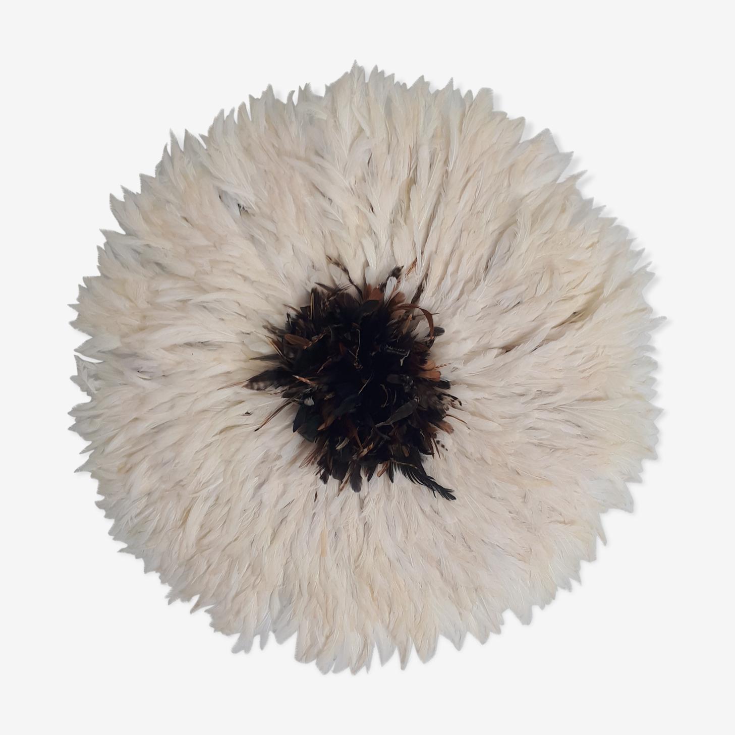Juju hat white heart natural 80/85 cm