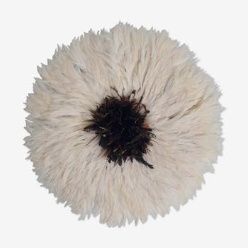 Juju hat white heart natural 80/85 cm