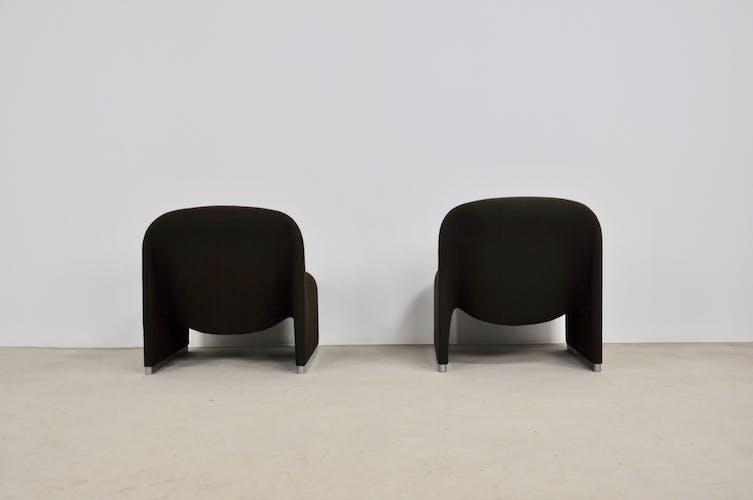 Paire de fauteuils Alky Giancarlo Piretti pour Anonima Castelli, 1970s