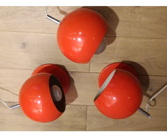 Lampes boules articulées en métal