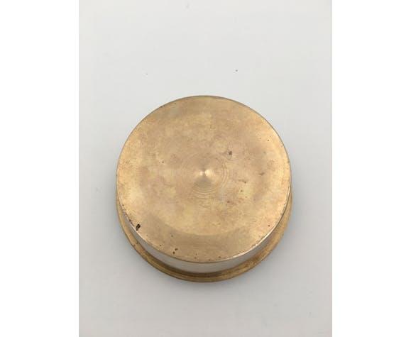 Boite ronde vintage en laiton cloisonné années 1960/1970