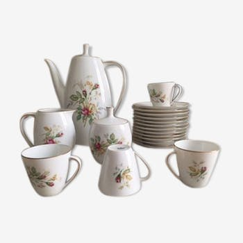 Old porcelain coffee service