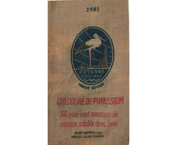 Frosted bag potase d'Alsace, stork