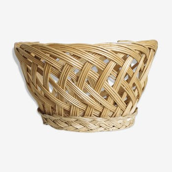 Basket or cache pot braided Wicker