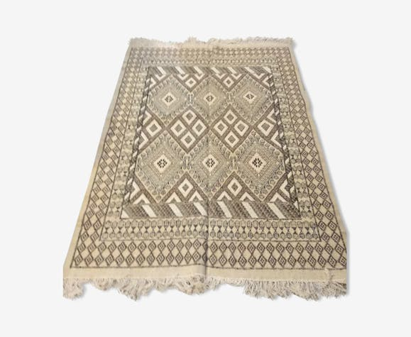 tapis berb re tunisien en laine 171x233cm laine coton. Black Bedroom Furniture Sets. Home Design Ideas