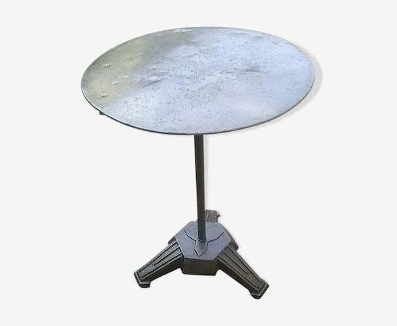 Table bistrot art déco, année 1930, pied en fonte