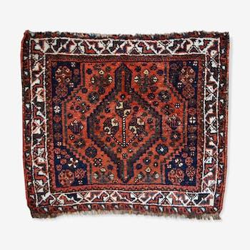 Carpet old collectible persam Shiraz bag 88cm x 97cm face 1930 s
