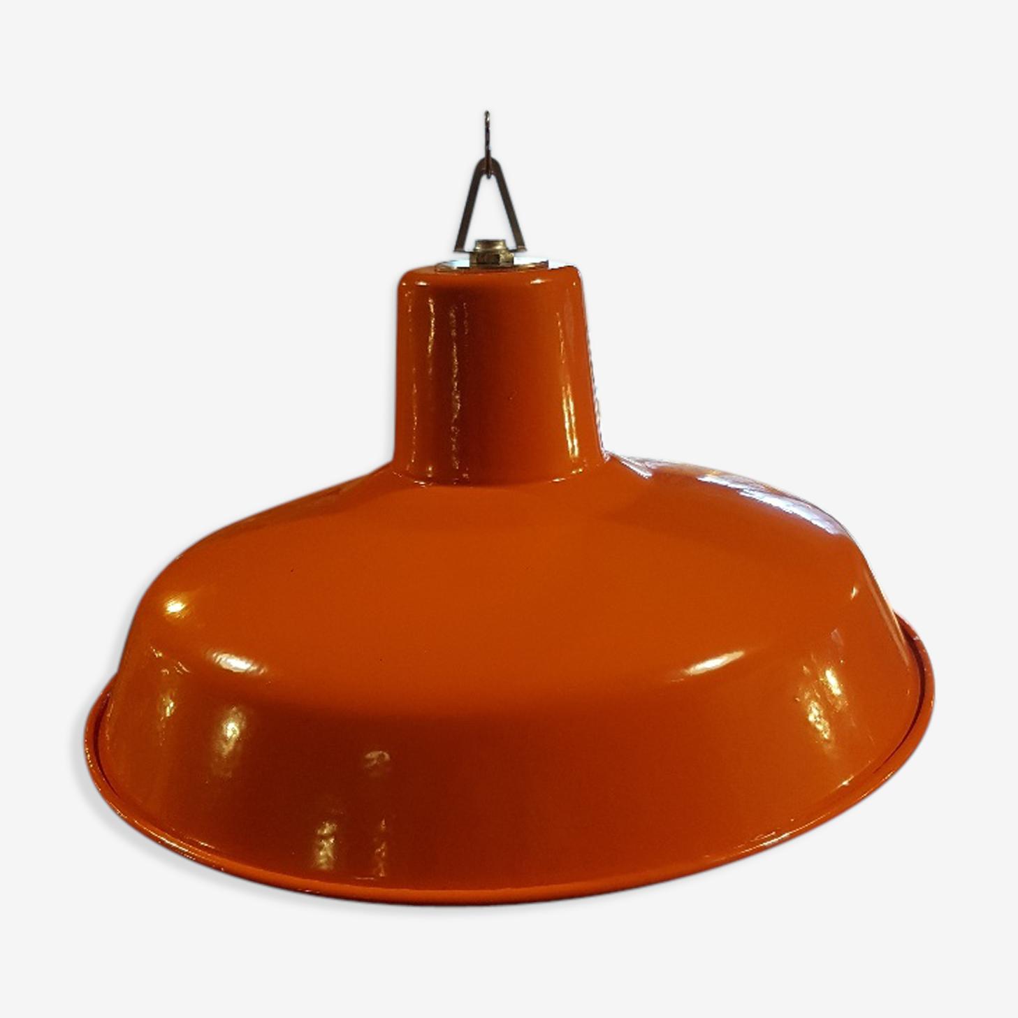 Lampe abat-jour design suspension orange