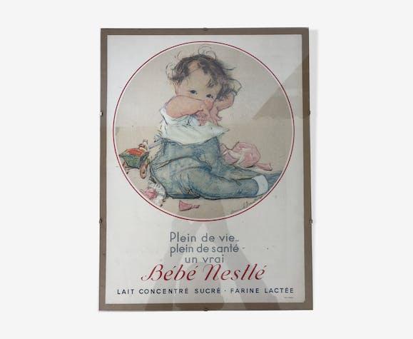 Affiche publicitaire Nestlé années 1930