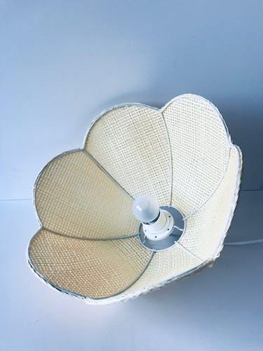 Suspension fleur bohème en raphia