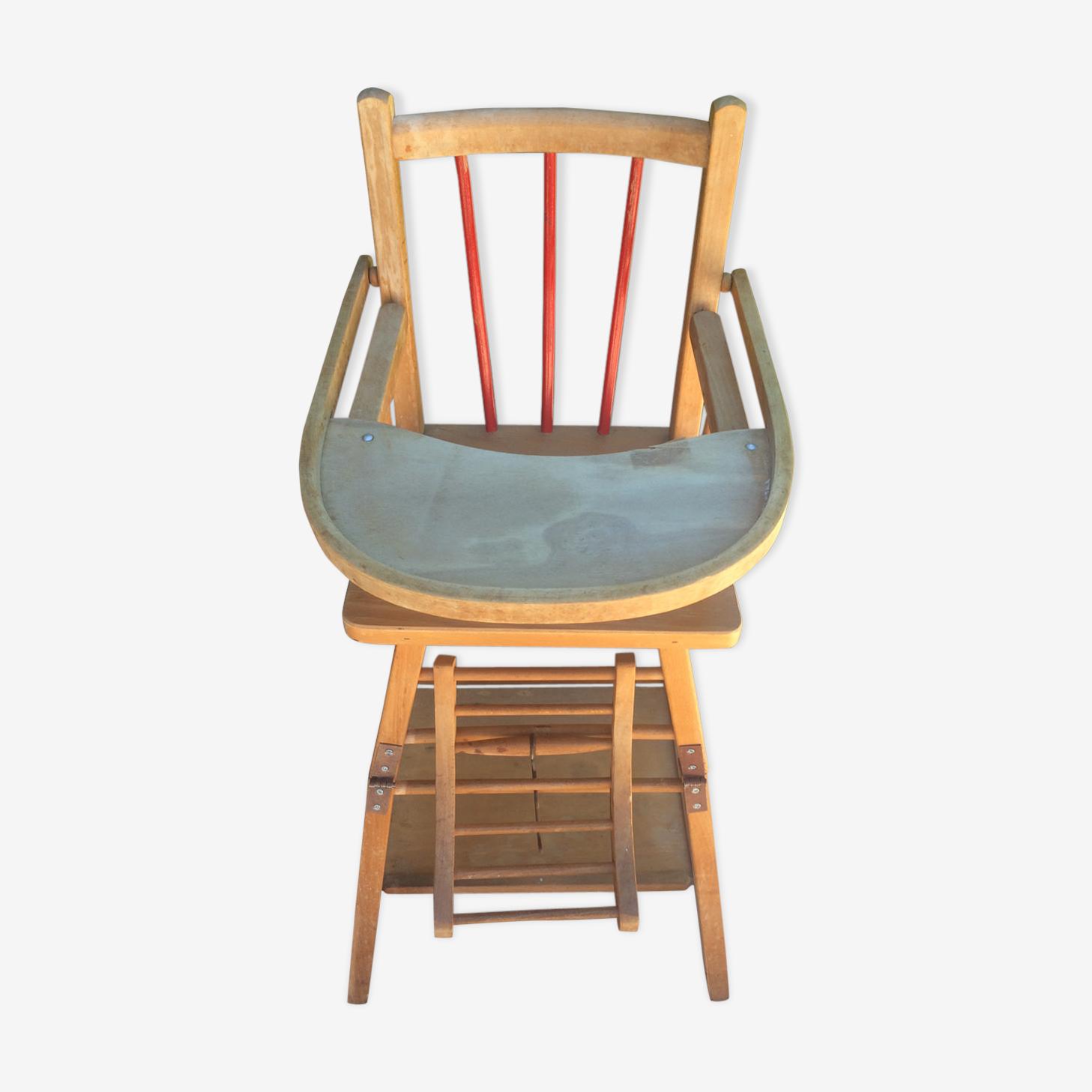 Chaise haute pour petit enfant transformable en trotteur