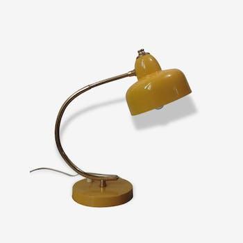 Lampe vintage  60 tôle laquée et laiton