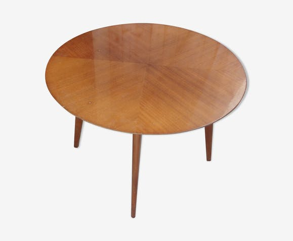 Wood round coffee table 1950/1960