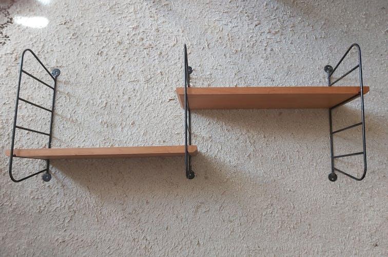 Double étagère String vintage