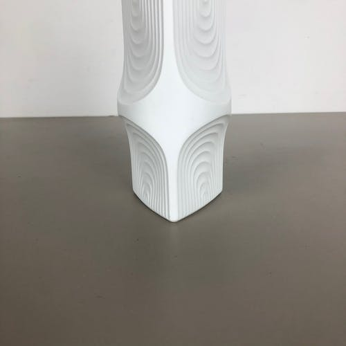 Vase allemand en biscuit OP Art fabriqué par AK Kaiser, Allemagne, années 1970