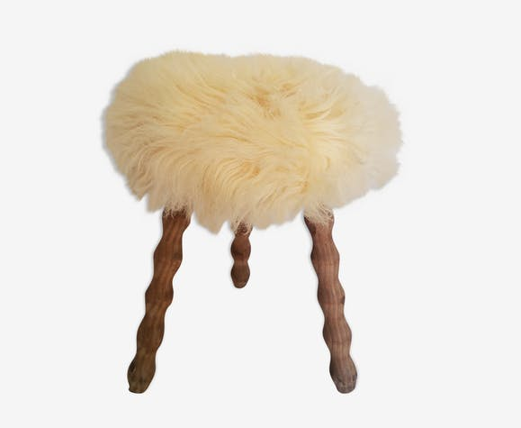 "Tripod stool ""ethnic chic"" 60/70"