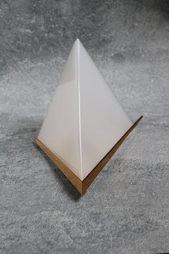 Appliques minimalistes en laiton et en lucite 1950