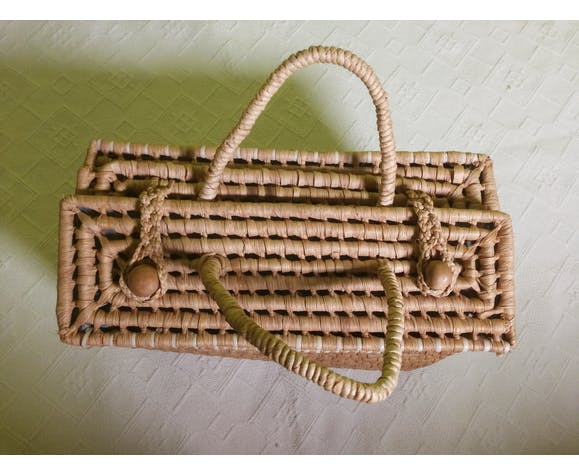 Vintage braided basket