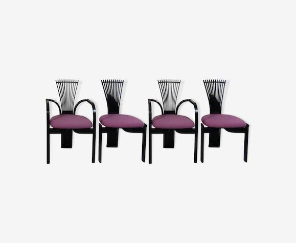 Ensemble de 4 chaises à manger, modèle Totem, de Torstein Nilsen pour Westnofa, Norvège