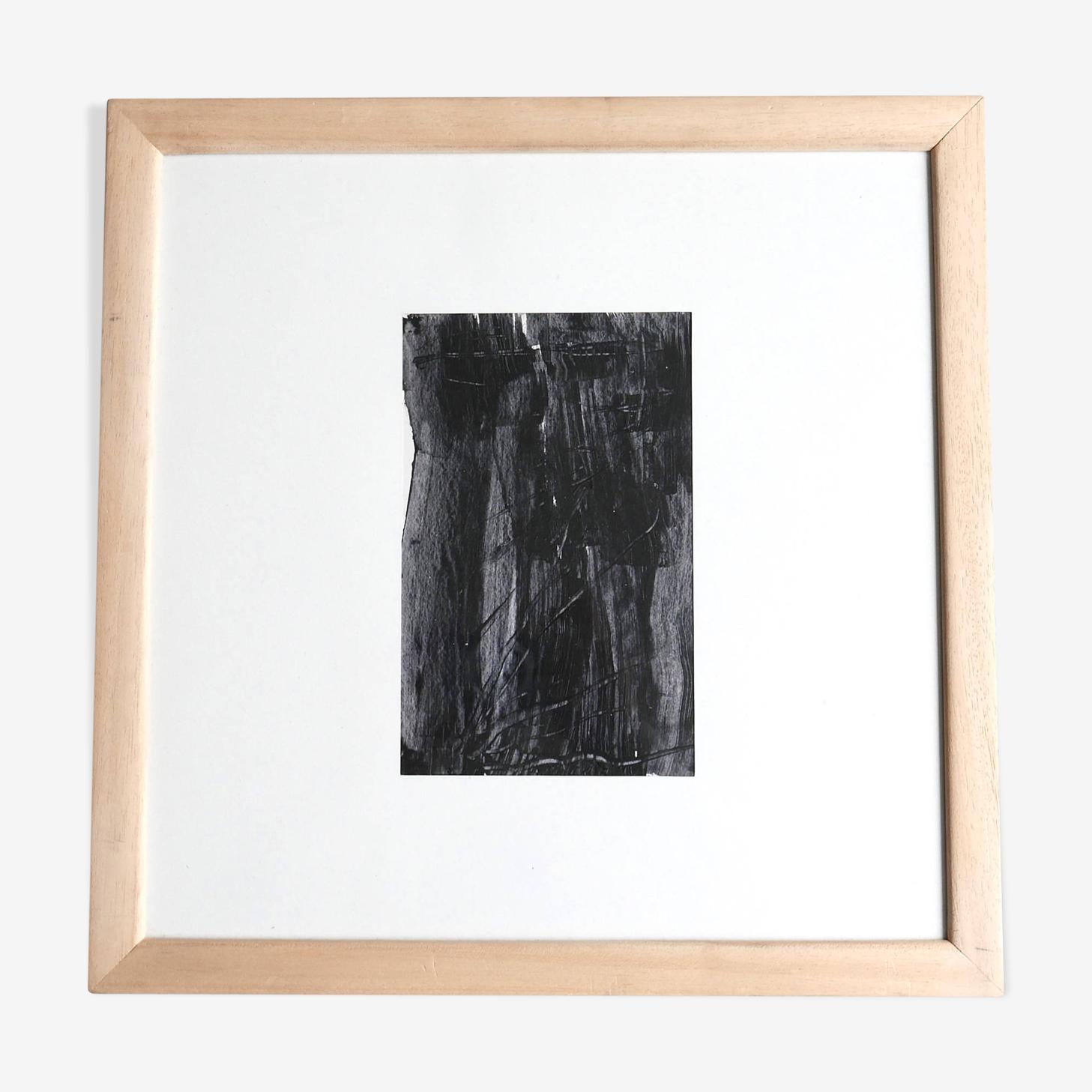 Peinture abstraite de Simone Bellet, années 80
