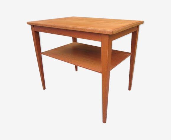 table d 39 appoint scandinave en teck bois mat riau. Black Bedroom Furniture Sets. Home Design Ideas