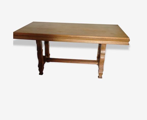 Table salle à manger en hêtre - bois (Matériau) - beige ...