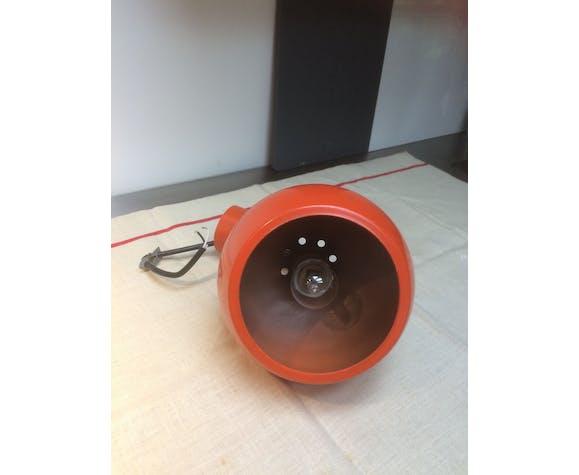 Orange hanging lamp of the 70