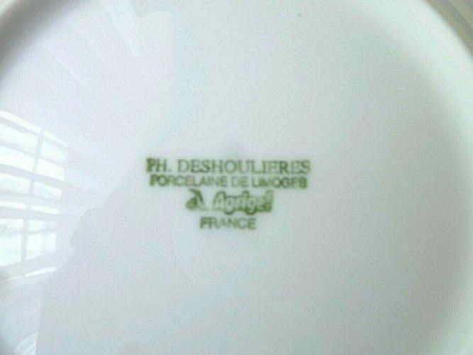 Set de 6 assiettes à pain Ph Deshoulières mod Californi Limoges