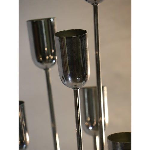 Lampadaire vintage en métal chromé 1970