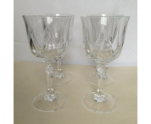 Ensemble de 4 verres à eau en cristal