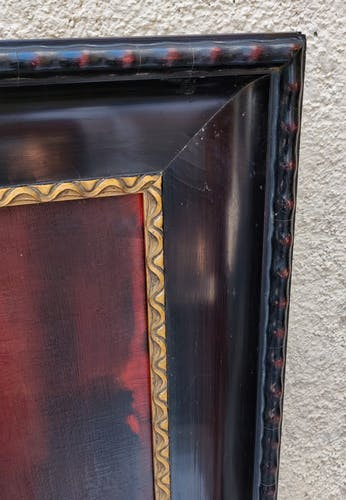 Portrait of a 19th century Swiss nobleman with blackened wood frame