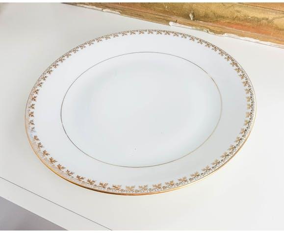 Lot of 4 plates AB Porcelain fine de Limoges