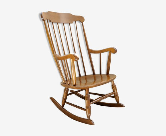 rocking chair stol vintage bois mat riau bois couleur vintage jgqdgih. Black Bedroom Furniture Sets. Home Design Ideas