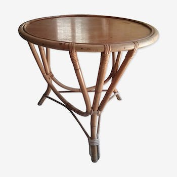 Round table in bamboo 60 years