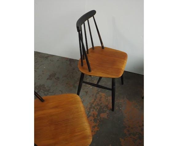 "Set de 4 chaises ""Fanett"" Tapiovaara pour Edsby verken"