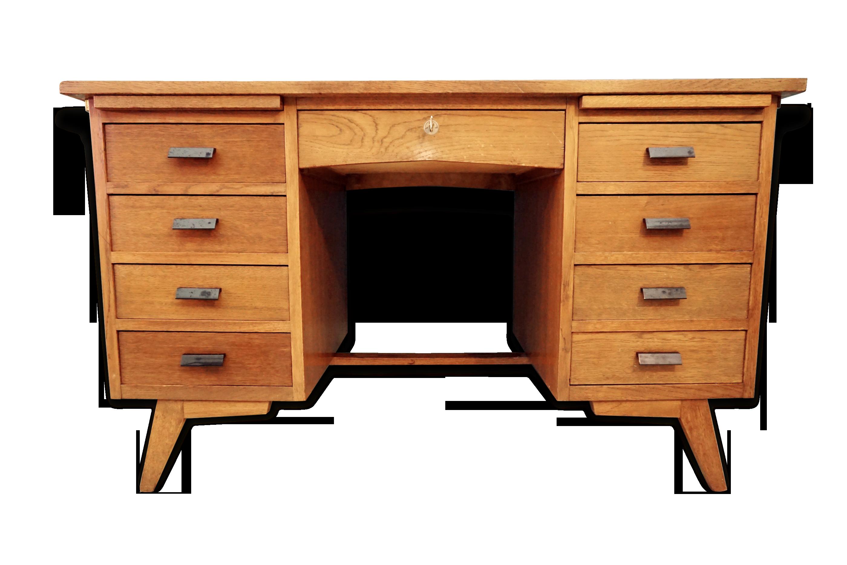 Bureau de notaire des années avec pieds compas bois matériau