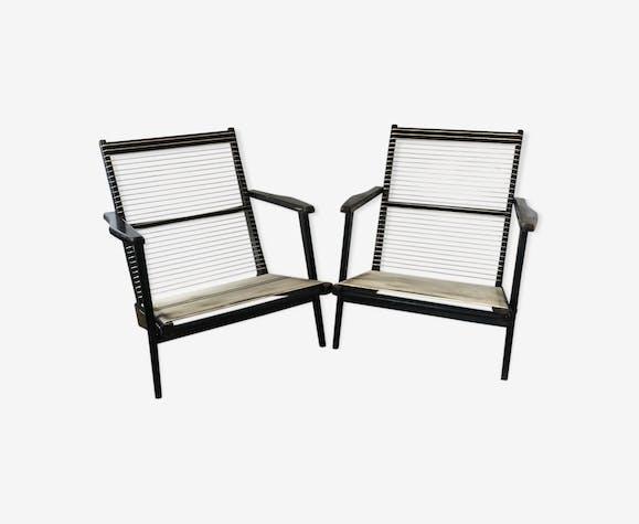 Paire de fauteuils scandinave  Georges Tigien