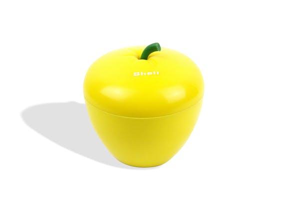 bac gla ons pomme jaune plastique jaune bon tat vintage 6423. Black Bedroom Furniture Sets. Home Design Ideas