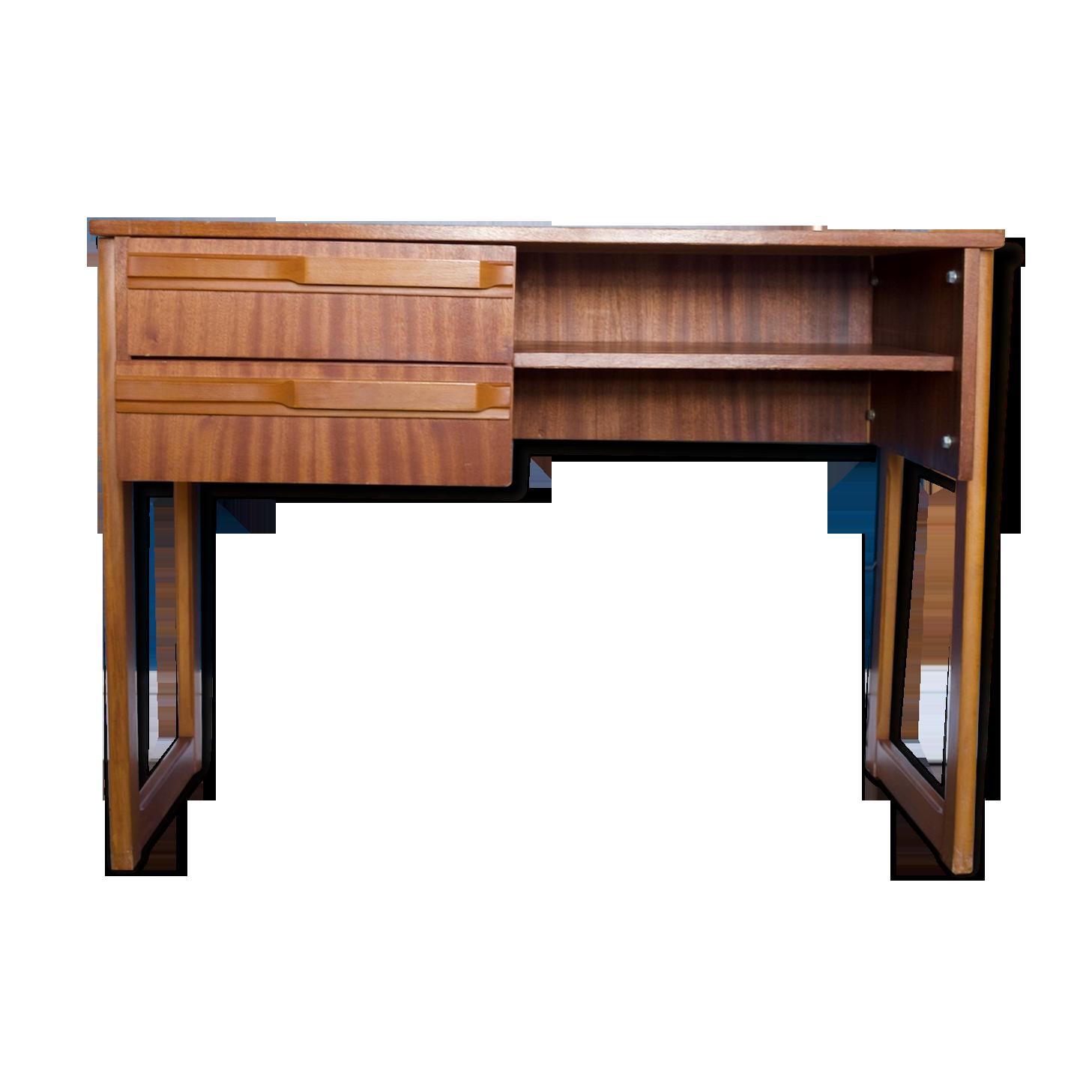 Bureau bois matériau marron scandinave cf iusy
